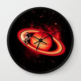 SATURN SKATING Wall Clock