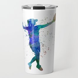 women playing softball 02 Travel Mug