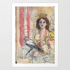 Queen of Flowers Art Print