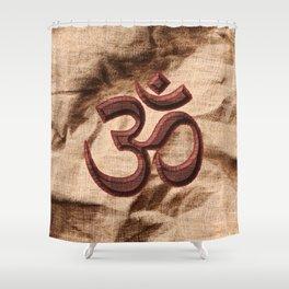 Kraftsymbol OM Shower Curtain