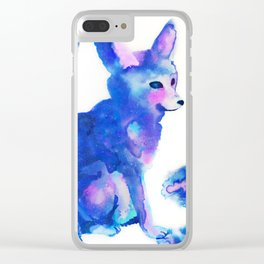 Space Fox Clear iPhone Case