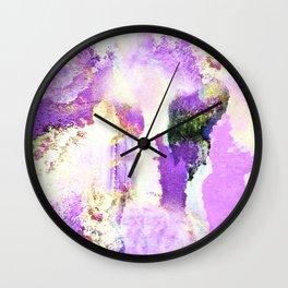 Lavender Emotions Wall Clock