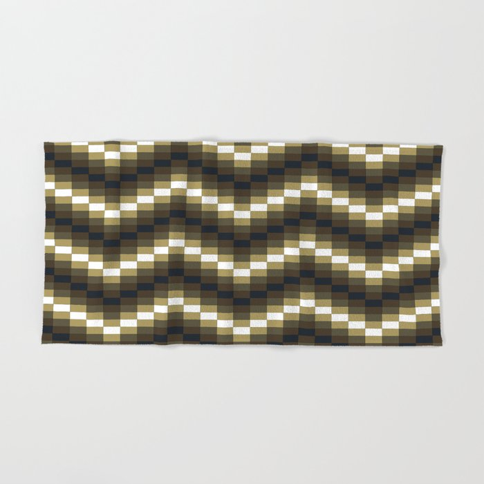 Block Wave Illustration Artwork Hand & Bath Towel