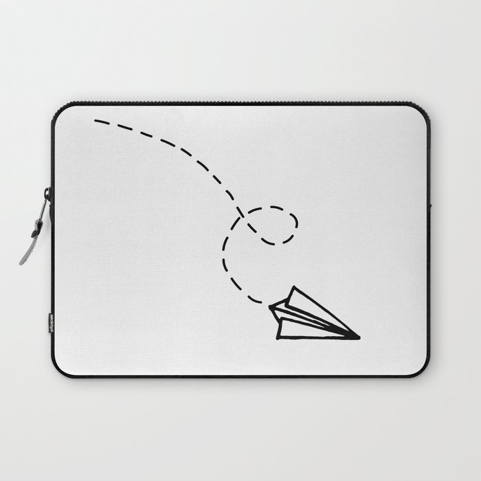 Send It Simple Paper Airplane Drawing Laptop Sleeve By