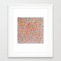 sprinkles Framed Art Prints featuring Sprinkles by Candy Circles