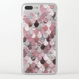 Mermaid Pink Clear iPhone Case