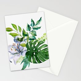 Flower and Leaves Stationery Cards