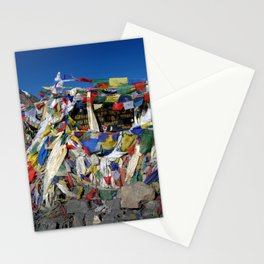 Prayer Flags top of Thorung La Stationery Cards