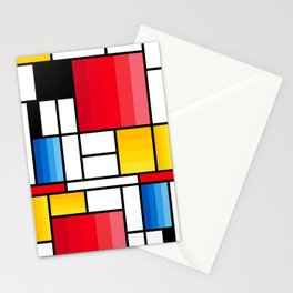 Mondrian in a different way - RUG Stationery Cards