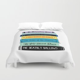 Hogwarts Stack of Wizardly Books Duvet Cover