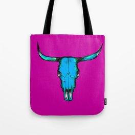 Horns - blue & pink Tote Bag