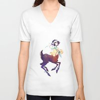 fawn V-neck T-shirts featuring Fawn by Stephanie Kao
