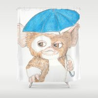 """gizmo Shower Curtains featuring Gizmo """"Singing In The Rain"""" by Dave Seedhouse.com"""