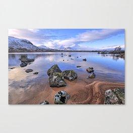 Rocking it on Rannoch Moor; Scottish highlands Canvas Print