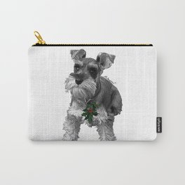 Christmas Schnauzer Carry-All Pouch