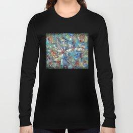 Dragonflies in blue Long Sleeve T-shirt