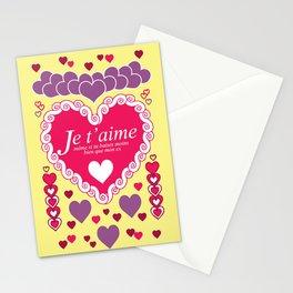Je t'aime, même si tu baises moins bien que mon ex Stationery Cards