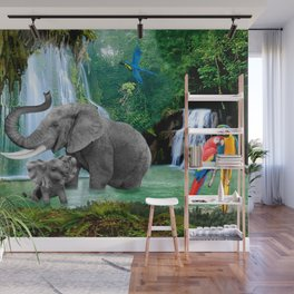 ELEPHANTS OF THE RAIN FOREST Wall Mural