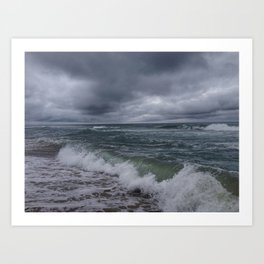 Waves and Clouds Art Print