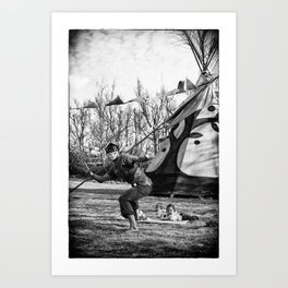 Morning Yoga @ Zanpa Jam II Art Print