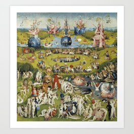 THE GARDEN OF EARTHLY DELIGHT - HEIRONYMUS BOSCH Art Print