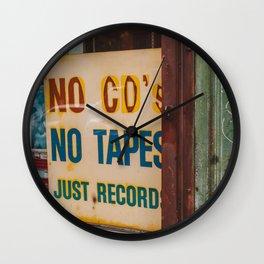 Just Records Wall Clock