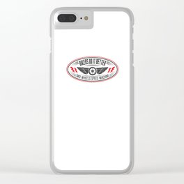 TWO WHEELS SPEED MACHINE Clear iPhone Case