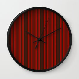 Red and Black Stripes Wall Clock