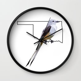 Oklahoma – Scissor-Tailed Flycatcher Wall Clock