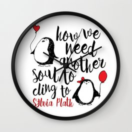 Penguin Love Quote Wall Clock
