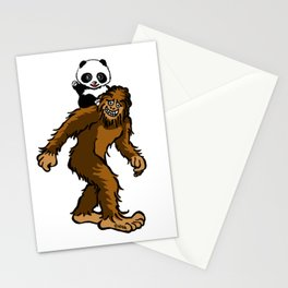 Gone Squatchin with Panda Stationery Cards