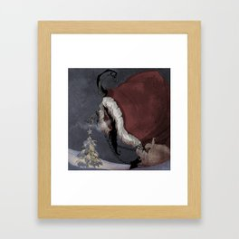 Krampus Christmas Framed Art Print