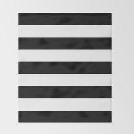 BLACK & WHITE STRIPES XL Throw Blanket