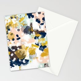 Sloane - abstract painting gender neutral baby nursery dorm college decor Stationery Cards