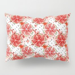 Fresh watermelon in watercolor! Pillow Sham