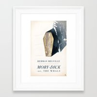 dick Framed Art Prints featuring Moby-Dick by Chad Gowey
