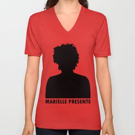 Marielle Franco Silhouette (Marielle Presente) Unisex V-Neck