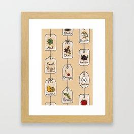 Tea Tag Time Framed Art Print