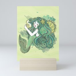 Mermaid Green Mini Art Print