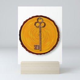 Key on Sawn Timber Mini Art Print