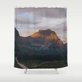 Sunset In Glacier Shower Curtain