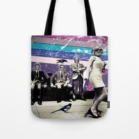 nicolas cage Tote Bags featuring Cage by Cs025