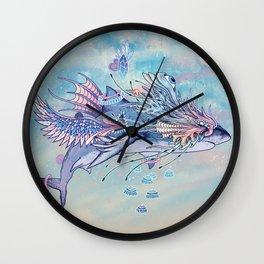 Journeying Spirit (Shark) Wall Clock