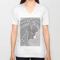 donkey V-neck T-shirts featuring Donkey by Olya Goloveshkina