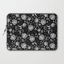 Whimsical Night Floral Pattern Laptop Sleeve