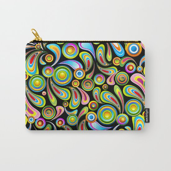 Psychedelic Color Drops Abstract Art Design Carry-All Pouch
