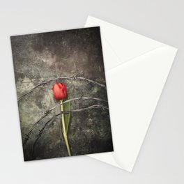Tulip and barbed wire Stationery Cards