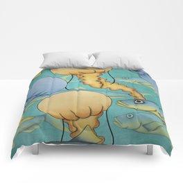 tropical underwater Comforters