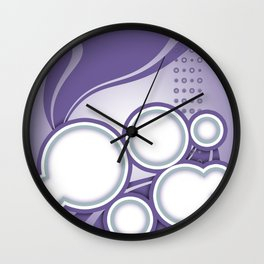 Ultra Violet PURPLE HAZE Wall Clock
