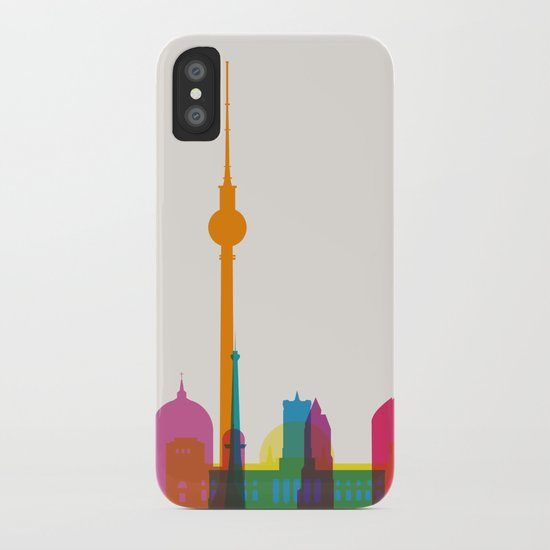 Shapes of Berlin accurate to scale iPhone Case